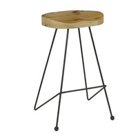 Contoured Seat Natural Barstool (Set of 2)