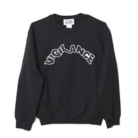 ASSK Black Vigilance Sweatshirt / Shop Super Street