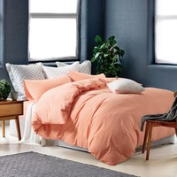 On Sale Bedroom Hot Deal Cotton Rinsed Denim Bedding Set [11665653775]