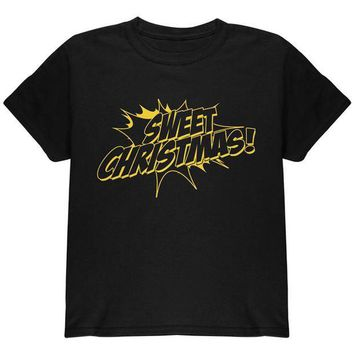 ESBGQ9 Sweet Christmas Comic Book Word Balloon Youth T Shirt