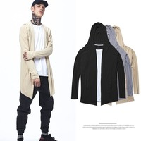 Cardigan Winter Men's Fashion Knit Long Sleeve Couple Hats [235158568989]