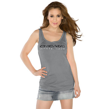 Touch by Alyssa Milano Women's Chicago White Sox Gray Curve Ball Tank Top