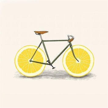 Wall Art Kids Room Decor Lemon Fruits Bike Painting on Canvas Prints Kitchen Decor Living Room Decoration Nodric Poster