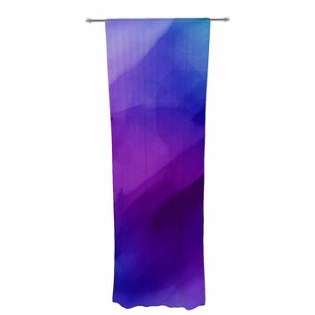 "Chelsea Victoria ""Blue Water"" Blue Purple Painting Decorative Sheer Curtain"