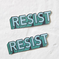 "Green ""Resist"" Sticker"