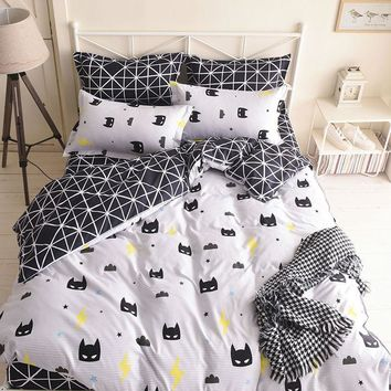 Batman Mask Bedding Set Duvet Cover, Single Full Queen King Size