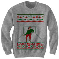 DRAKE UGLY CHRISTMAS SWEATER I KNOW WHEN THOSE SLEIGH BELLS RING CHRISTMAS SWEATER LADIES MENS SWEATERS CHEAP GIFTS CHRISTMAS GIFTS from CELEBRITY COTTON