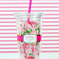 LILLY PULITZER: Tumbler - Pink Colony