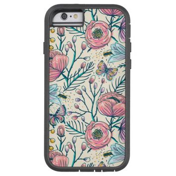 Girly Vintage Rose Garden Flower Pattern Tough Xtreme iPhone 6 Case
