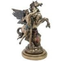 Perseus and Pegasus by Emile Louis Picault, Bronze Finish