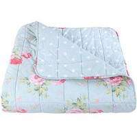 Cath Kidston - Antique Rose Bouquet Duck Egg Bedspread