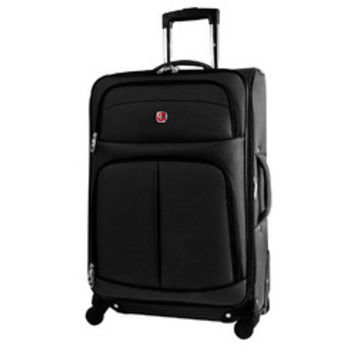 SwissGear Travel Luggage Suitcase - Spinner [24 Inch - Basel Collection]