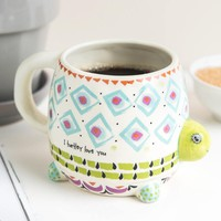 I Turtly Love You Folk Art Mug