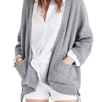 Madewell Side Lace-Up Cardigan | Nordstrom