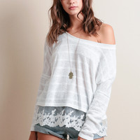 Nadie Lace Accent Top