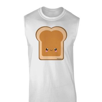 Cute Matching Design - PB and J - Peanut Butter Muscle Shirt  by TooLoud