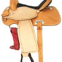 "14-15"" Champion Barrel Racing Saddle by Ozark Leather Co. SQH Bars"
