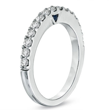 Vera Wang LOVE Collection 1/2 CT. T.W. Diamond Anniversary Band in 14K White Gold