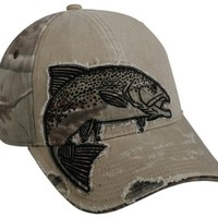 Realtree Trout Camo/Khaki Fishing Hat