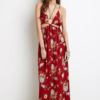 Sateen Floral Maxi Dress