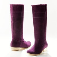 Suede Flat Boots - LA REDOUTE CREATION