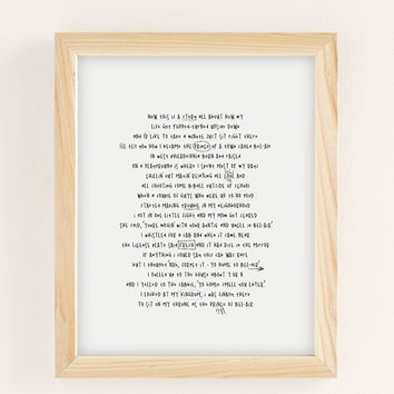 Honeymoon Hotel Fresh Prince Of Bel-Air Art Print | Urban Outfitters