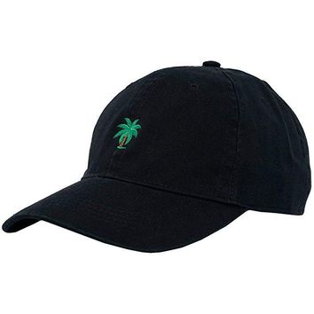 Adjustable Embroidery Palm Trees Curved Dad Snapback Hats Take A Trip Baseball Cap Coconut Trees Hat Bone Strapback Hip Hop Cap