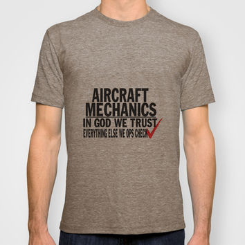 Aircraft Mechanics T-shirt by sophiafashion