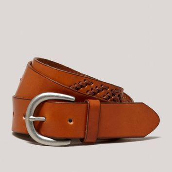 AEO Chevron Stitch Leather Belt | American Eagle Outfitters