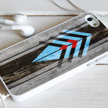 iPhone 5 4 geometric Monogram Case - aztec navajo wood Samsung Galaxy s3 s4, ipod touch - Blue Red - 0042