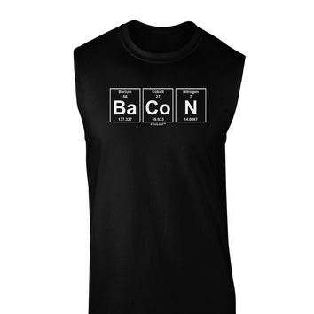 Bacon Periodic Table of Elements Dark Muscle Shirt  by TooLoud