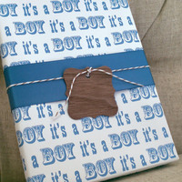 Wrapping Paper for Baby Boy or Girl Small Gifts