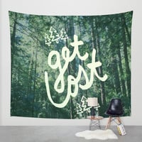 Get Lost x Muir Woods Wall Tapestry by Leah Flores