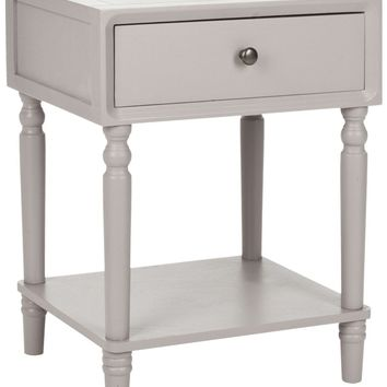 Siobhan Accent Table With Storage Drawer Quartz Grey