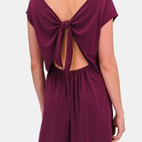 Alisha Modal Keyhole Back Dress in Deep Purple