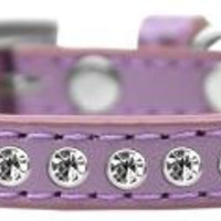 Clear Crystal Size 8 Lavender Puppy Collar