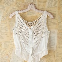 Free People Vintage Victorian Eyelet Top