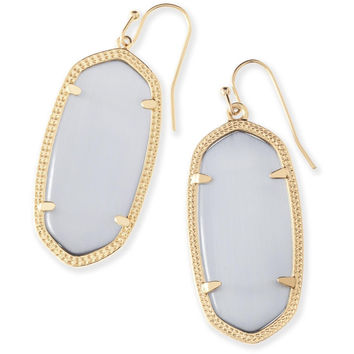 Kendra Scott: Elle Gold Earrings In Slate