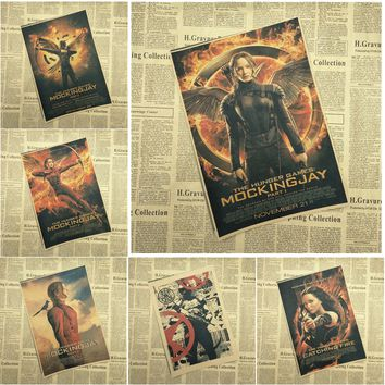 The Hunger Games Classic Movie Kraft Paper Poster Bar Cafe Living Room Dining room Wall Decorative Paintings