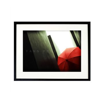 Fine art photography, Red umbrella, Umbrella art, Wall art, Wall decor, Umbrella Photo, Geometric, Red home decor, modern decor,5x7(13x18cm)