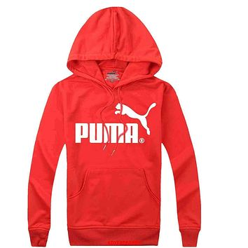 PUMA Woman Men Hooded Top Sweater Hoodie Sweatshirt