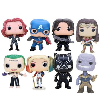 Batman Dark Knight gift Christmas 10cm Captain America 3 Civil War winter soldier Iron man  Avengers Justice League batman superman action Vinyl Figure Model Toy AT_71_6