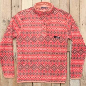 Southern Marsh Pisgah Aztec Pullover - Washed Red