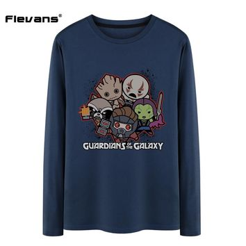 Long Sleeve Kawaii Style Guardians of the Galaxy T Shirt