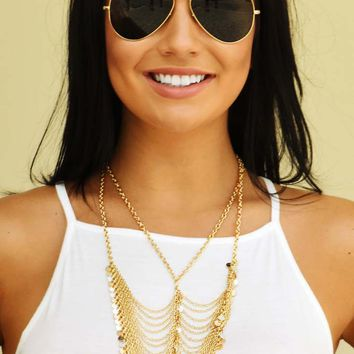 This Years Girl Necklace: Gold
