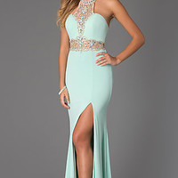 High Neck Halter Top Prom Gown from JVN by Jovani