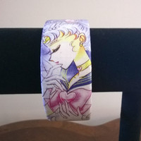 Sailor Moon comic book anime decoupage bangle bracelet