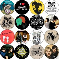 Set of 16 TEGAN AND SARA Pinback Buttons 1.25 Pins / Badges