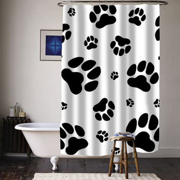 Paw  special custom shower curtains available size