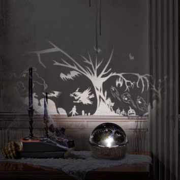 Rotating Shadow Light-Flying Tree and Witches by Gemmy Industries - Walmart.com